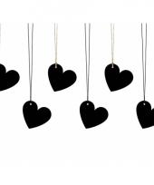 Zwarte hartjes labels voor kadootjes trend