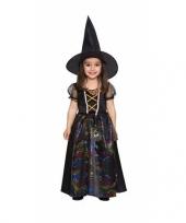 Zwarte heks jurkje voor meisjes trend