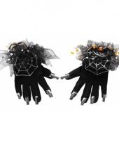 Zwarte heksen handschoenen trend