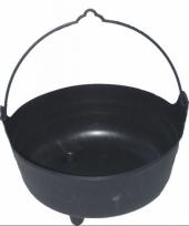 Zwarte heksenketel 37 cm trend