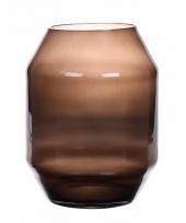 Zwarte hoge vaas 33 cm trend