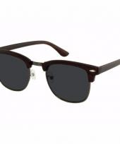 Zwarte houtlook dames zonnebril model 040 trend