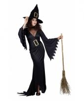 Zwarte lange heksen jurken trend