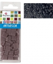 Zwarte mozaiek steentjes 310 st trend