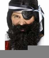 Zwarte piraten baard gekruld trend