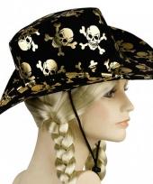 Zwarte piraten hoeden deluxe trend