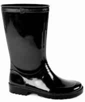 Zwarte pvc regenlaarzen voor dames trend