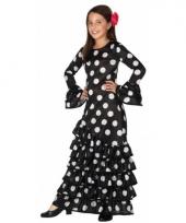 Zwarte spaanse kids verkleedkleding jurk trend
