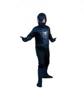 Zwarte spiderheld kinderverkleedkleding trend