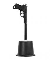 Zwarte toiletborstel in pistool vorm trend