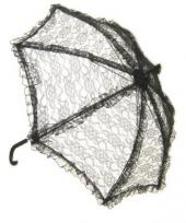 Zwarte vintage paraplu trend