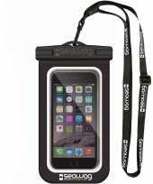 Zwarte witte waterproof hoes voor smartphone mobiele telefoon trend