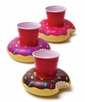 Zwembad bekerhouder donuts 3 x trend