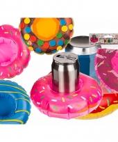 Zwembad blikjes houder roze donut trend