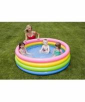 Zwembad met felle kleuren 168 cm trend
