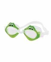 Zwembril met kikker oogjes voor kinderen groen trend