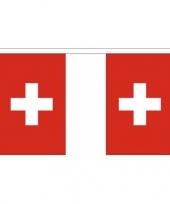 Zwitserland vlaggenlijn van stof 3 m trend
