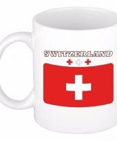 Zwitserse vlag theebeker 300 ml trend